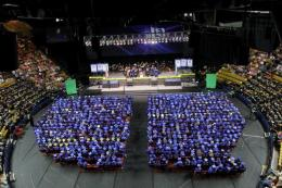 Graduates at TCC Commencement ceremony